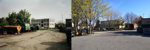 Widok na STBS z parkingu transportu